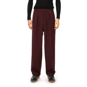 AMBUSH | High Waist Relaxed Trousers Wine - Concrete
