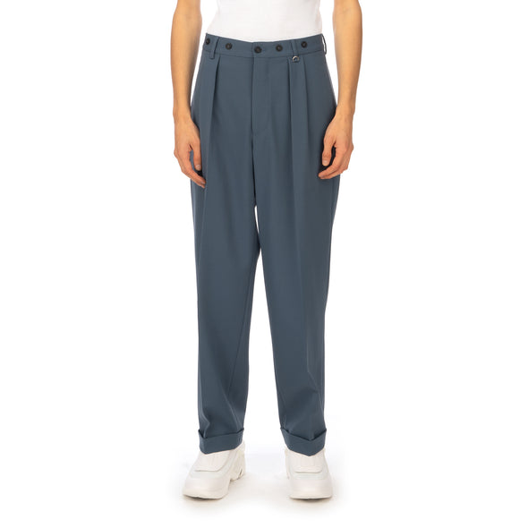 AMBUSH | High Waist Relaxed Trousers Blue / Grey - Concrete