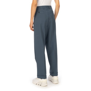 AMBUSH® | High Waist Relaxed Trousers Blue / Grey
