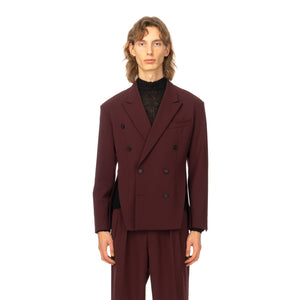 AMBUSH | Double Breasted Slit Jacket Wine - Concrete