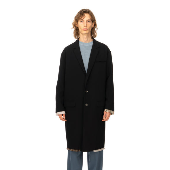 AMBUSH | Reversible Wool Coat Black - Concrete