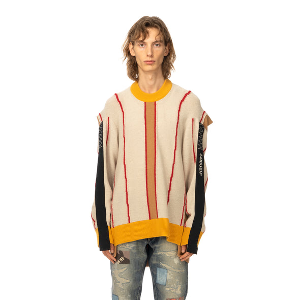 AMBUSH | Folding Crewneck Knit 2 Beige / Multi - Concrete