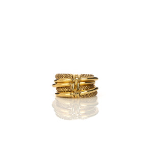 AMBUSH | Multi Layered Ring 2 Gold - Concrete