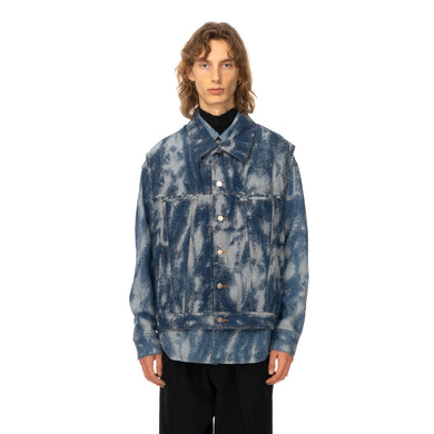 AMBUSH | Denim Hybrid Jacket Jacquard Indigo - Concrete