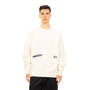 AMBUSH | Crewneck Inserts Sweatshirt Off White - Concrete