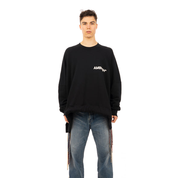 AMBUSH | Multicord Crewneck Sweatshirt Black - Concrete