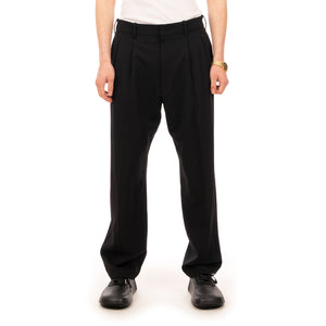 AMBUSH | Relaxed Fit Suit Pants Jet Black - Concrete