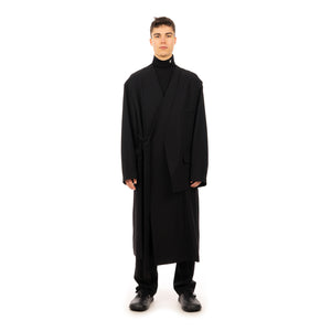 AMBUSH | Light Wool Hybrid Coat Jet Black - Concrete
