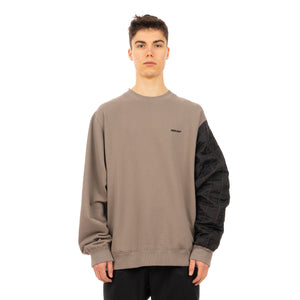AMBUSH | Mix Quilted Fleece Sweatshirt Dark Grey - Concrete