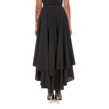 Load image into Gallery viewer, Andrea Ya'aqov Wmns Two Layer Skirt Linen Black