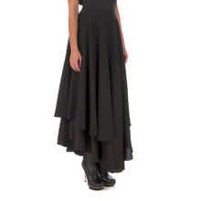 將圖像加載到畫廊查看器中Andrea Ya'aqov Wmns Two Layer Skirt Linen Black