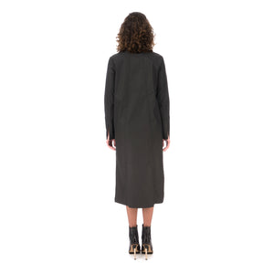 Andrea Ya'aqov | W Waxed Long Shirt Black - Concrete