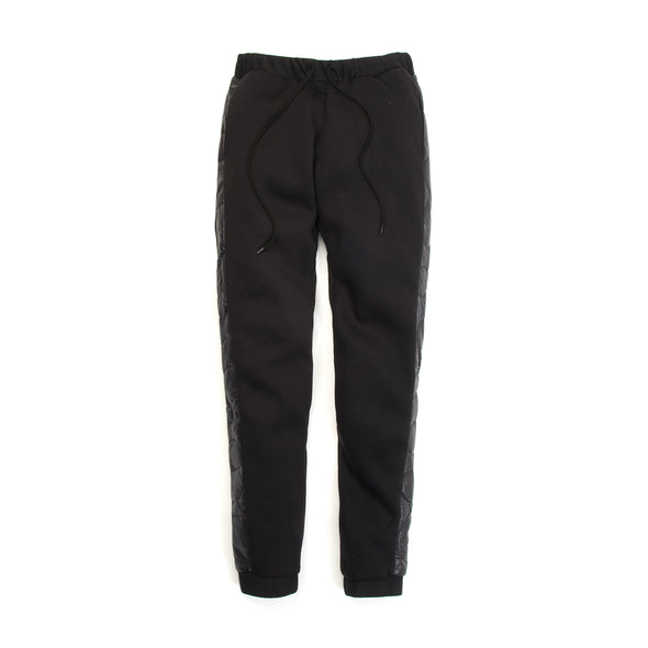 Andrea Crews Mixed-Padded Jogging Pants Black - Concrete