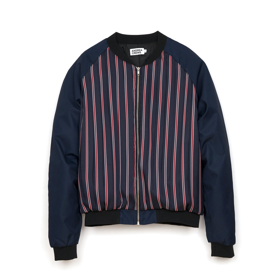 Andrea Crews 'Pylmo' Pleated Front Bomber Red