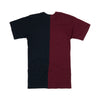 Andrea Crews 'Chimaera' 2-Pack T-Shirt Navy/Burgundy