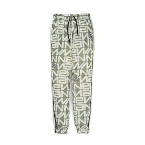 Andrea Crews 'Paul' Allover New Man Print Jogging Pants Grey - Concrete