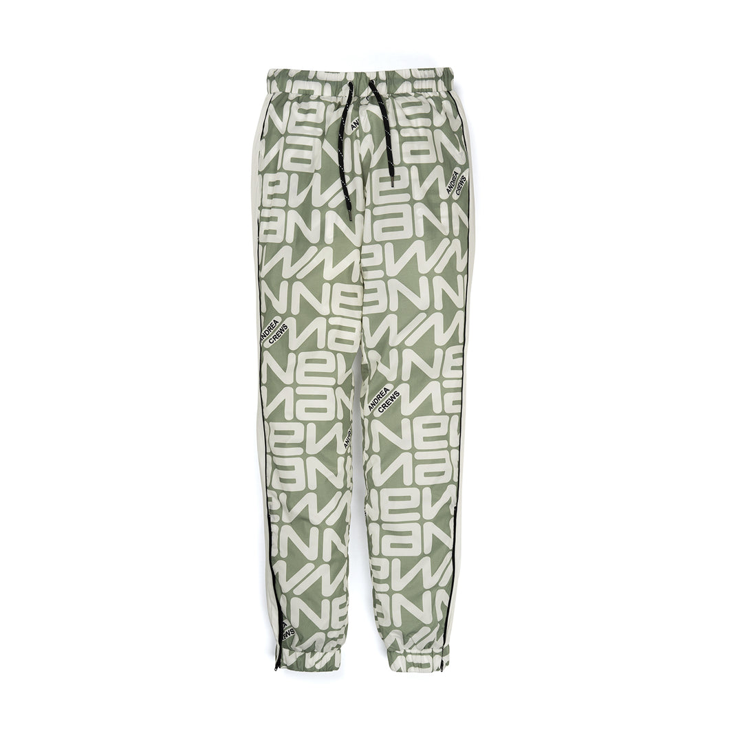 Andrea Crews 'Paul' Allover New Man Print Jogging Pants Grey