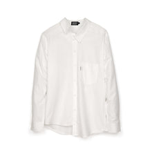 Load image into Gallery viewer, Andrea Crews 'Ratepi' Asymmetric Shirt White - Concrete