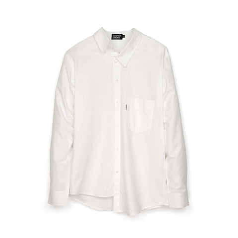 Andrea Crews 'Ratepi' Asymmetric Shirt White