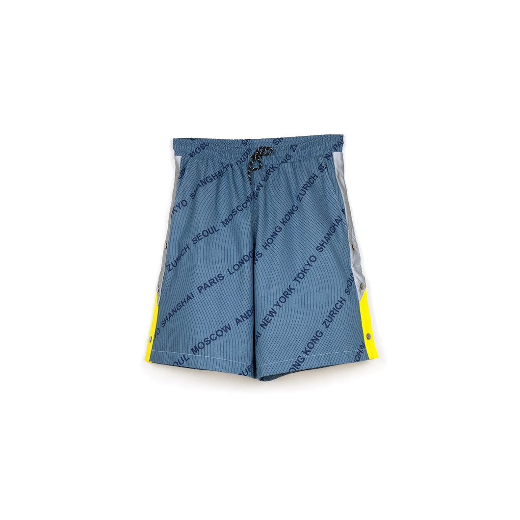 Andrea Crews 'Densho' Shorts Blue - Concrete