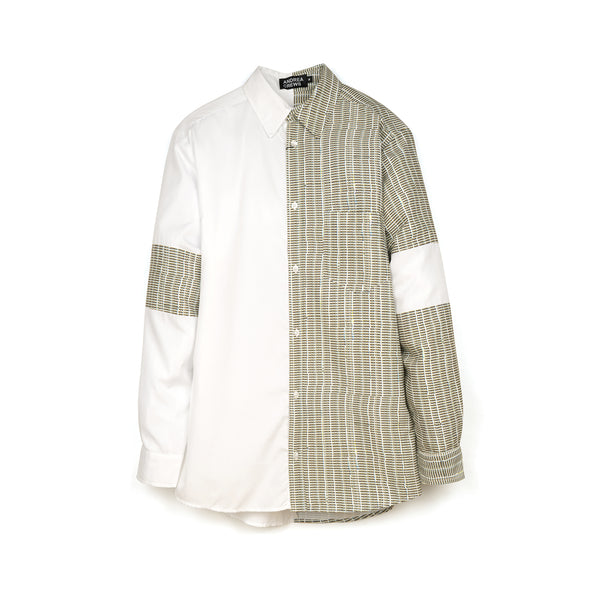 Andrea Crews 'Glishirt' White / Grey - Concrete
