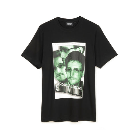 Andrea Crews 'Snowden' T-Shirt Black