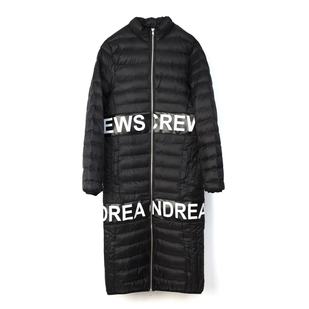 Andrea Crews 'Andrea Pad' Long Padded Jacket Black - Concrete