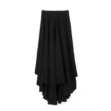 Load image into Gallery viewer, Andrea Ya'aqov Wmns Two Layer Skirt Linen Black - Concrete
