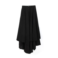 Load image into Gallery viewer, Andrea Ya'aqov | W Two Layer Skirt Linen Black - Concrete