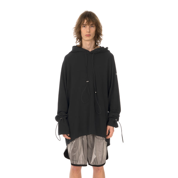 asparagus_ | Double Layered Hoodie T-Shirt Black - Concrete