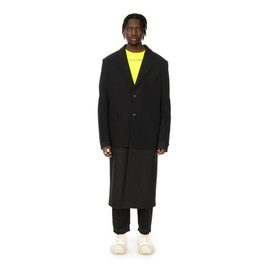 asparagus_ | Jacket Layered Coat Black - Concrete