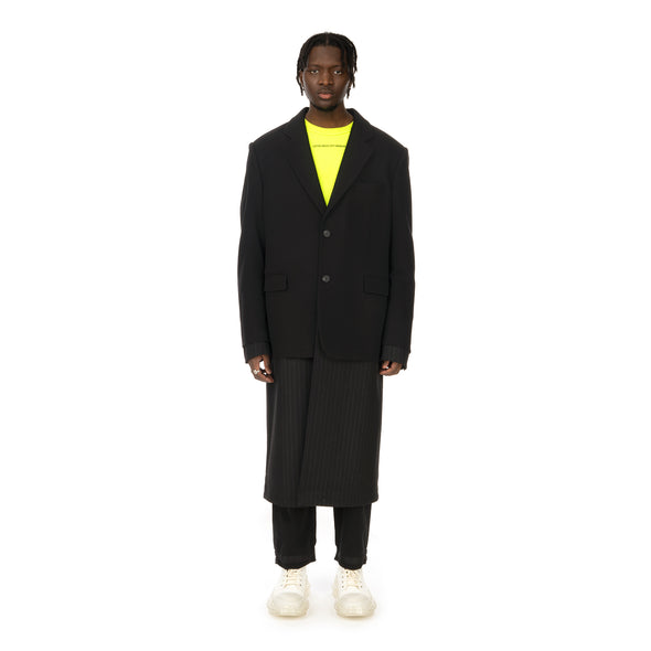 asparagus_ | Jacket Layered Coat Black