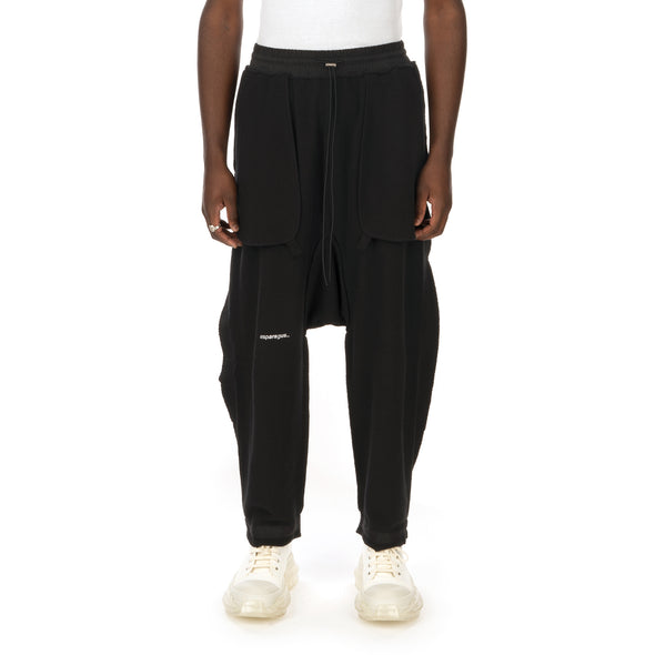 asparagus_ | Inside-Out Baggy Pants Black