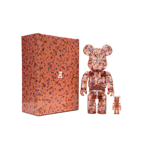 Be@rbrick 400% + 100% Anrealage Clear Red ver.
