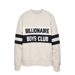 Billionaire Boys Club Varsity Cut & Sew Crewneck White Marl