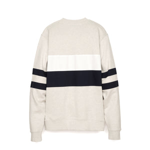 Billionaire Boys Club | Varsity Cut & Sew Crewneck White Marl