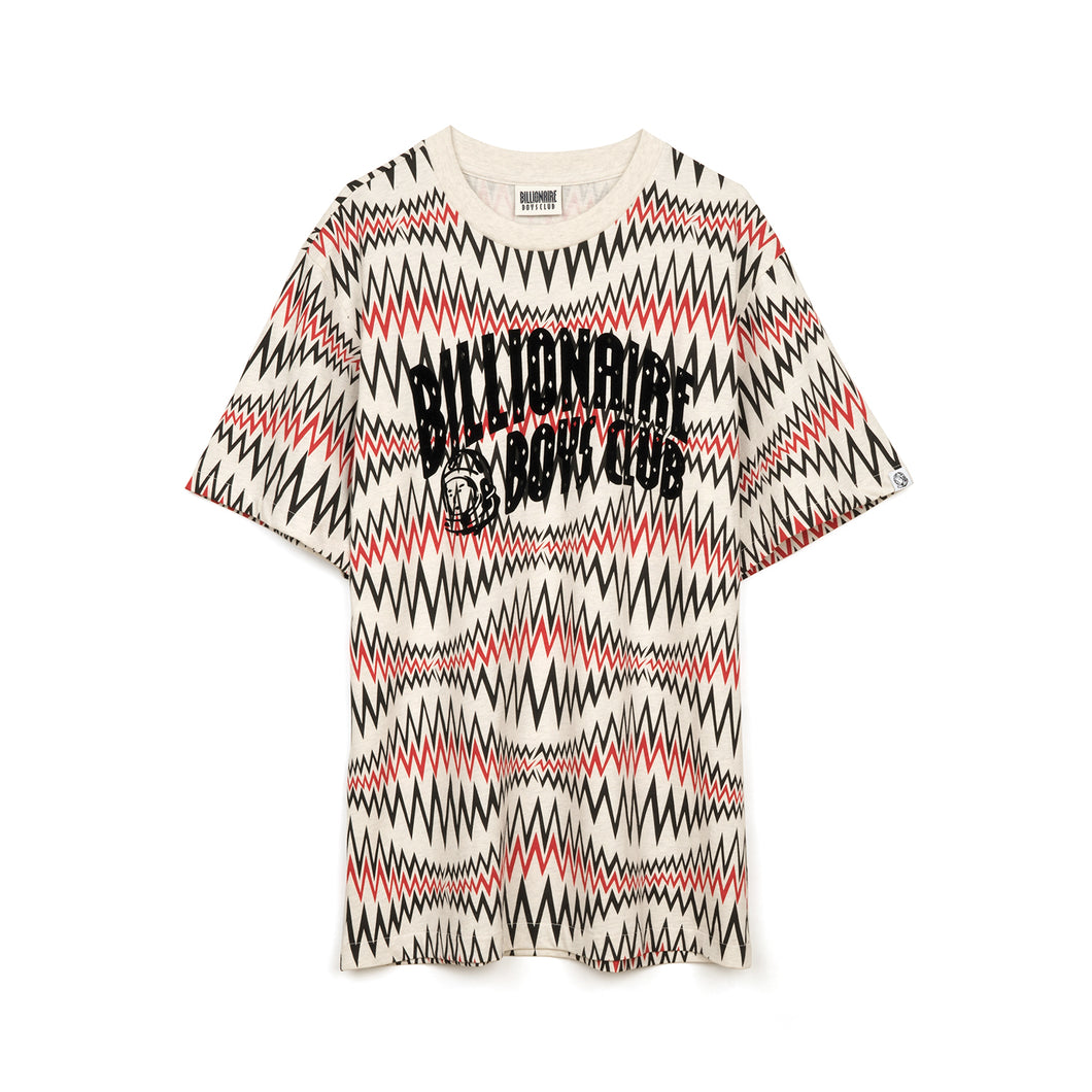 Billionaire Boys Club | Soundwave Arch Logo T-Shirt White Marl