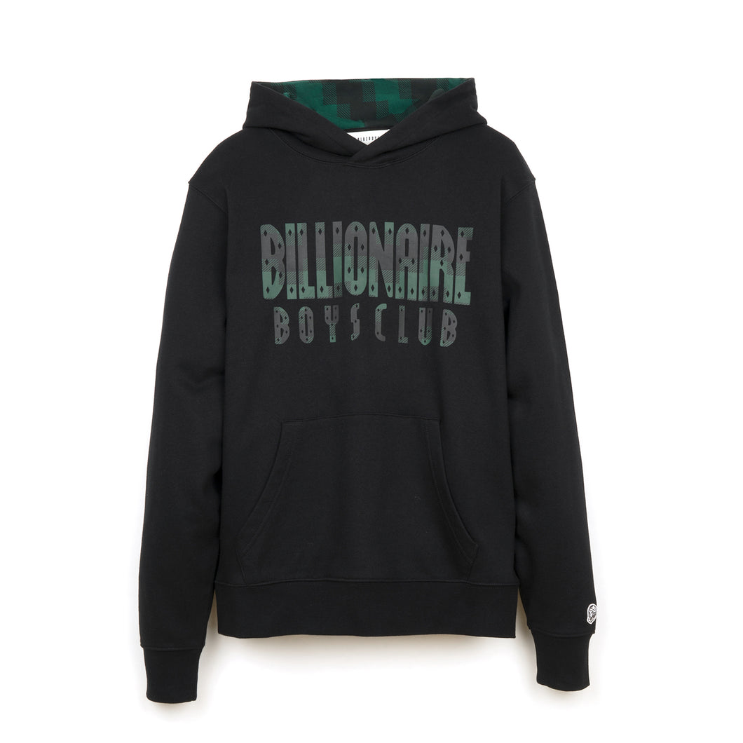 Billionaire Boys Club | Digi Check Fill Popover Hood Black - Concrete