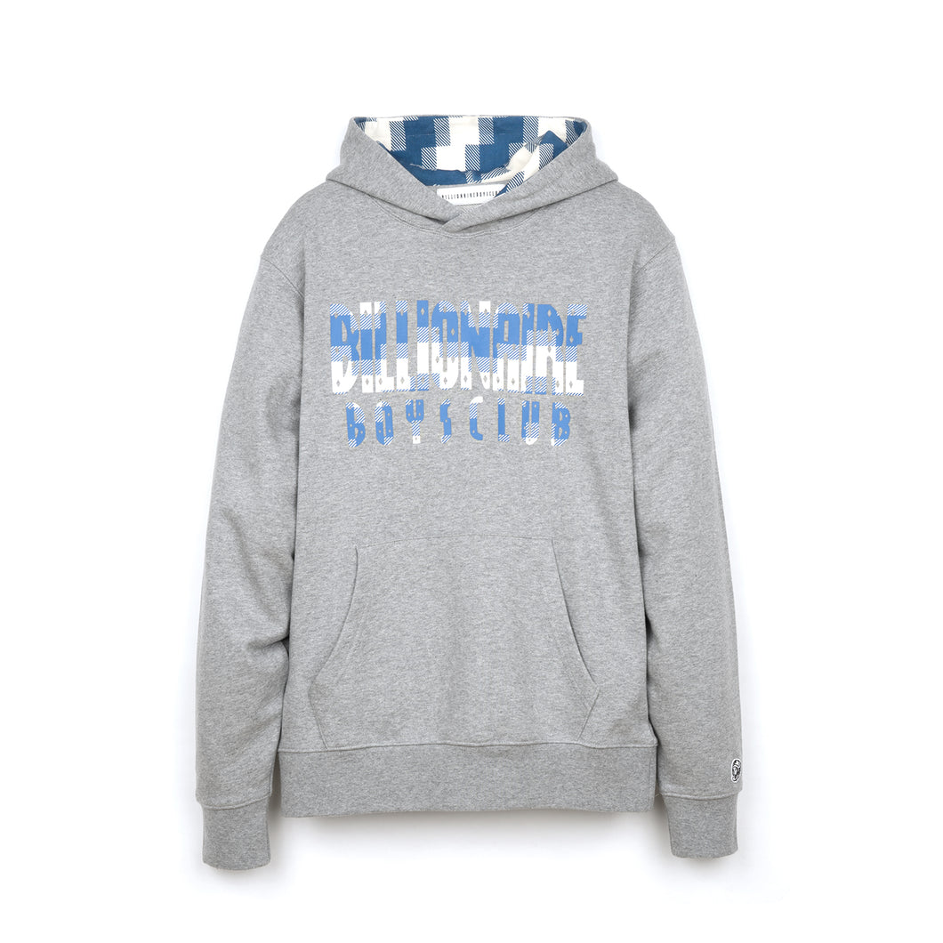 Billionaire Boys Club | Digi Check Fill Popover Hood Heather Grey - Concrete