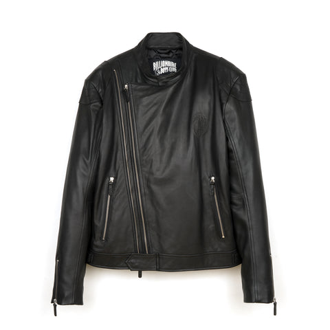 BBC L/S Leather Wolfman Motorcycle Jacket Black