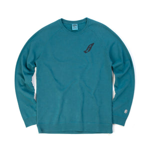 Billionaire Boys Club | Flying B Overdye Crewneck Teal - Concrete