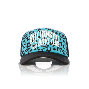 Billionaire Boys Club | Leopard Trucker Cap Blue - Concrete