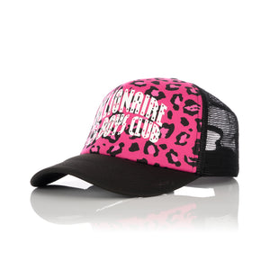 Billionaire Boys Club | Leopard Trucker Cap Pink - Concrete