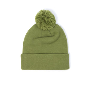 Billionaire Boys Club | Logo Ribbed Knitted Beanie Olive - Concrete
