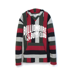 Billionaire Boys Club | Baja Print Pop-Over Hood Multi Striped - Concrete