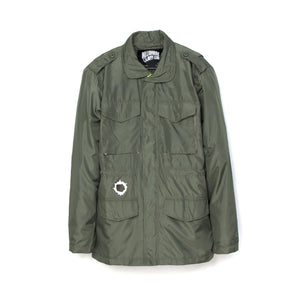Billionaire Boys Club | Technical Nylon Military Jacket Olive - Concrete