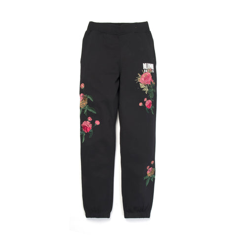 BBC Embroidered Floral Sweatpant Black