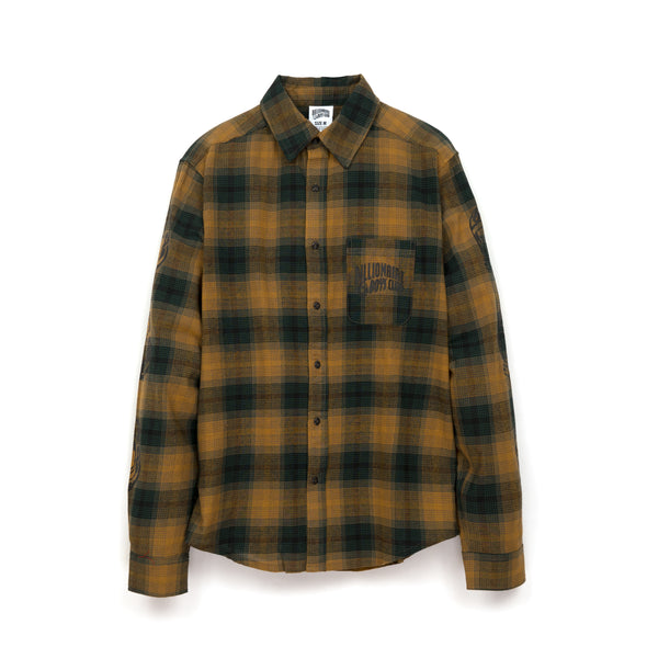 BBC Helmet Print Check Shirt Green