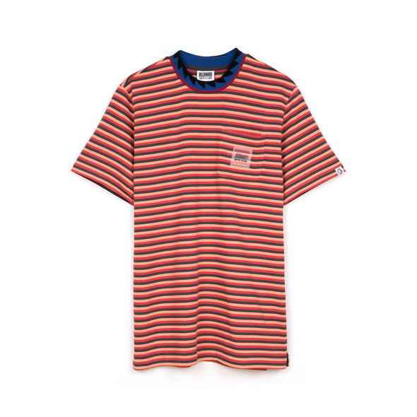 Billionaire Boys Club | Striped Pocket T-Shirt Red - Concrete