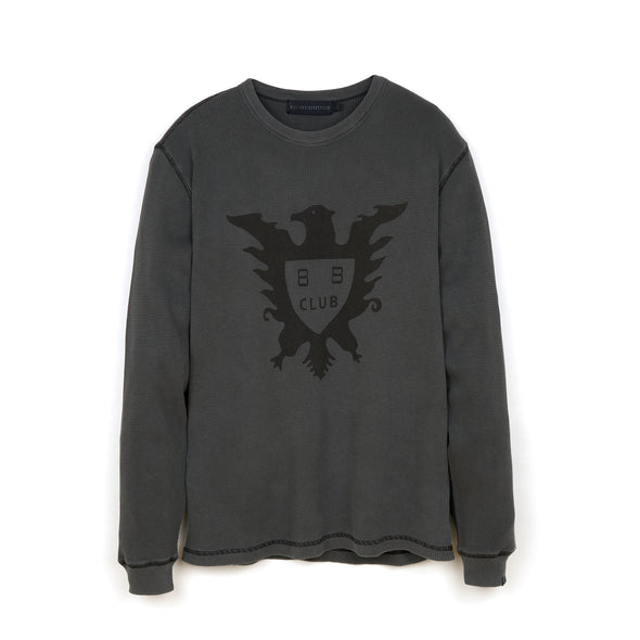 Billionaire Boys Club | Overdyed L/S Waffle T-Shirt Black